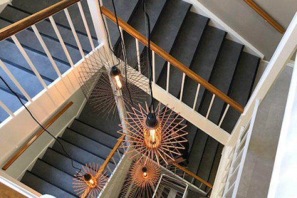 Hanglampen trapsgat Jellinek Utrecht