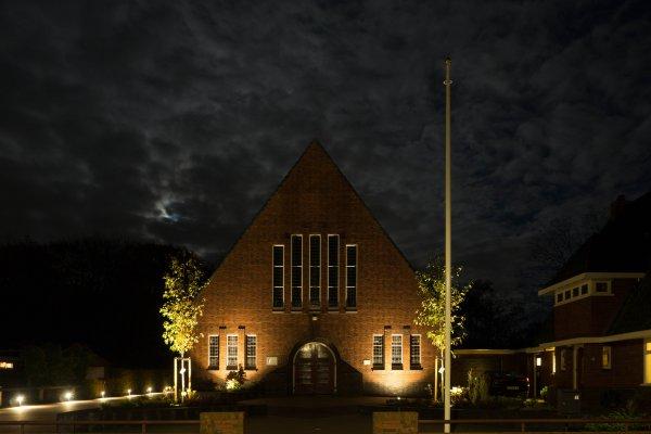 Buitenverlichting kerk Rottevalle